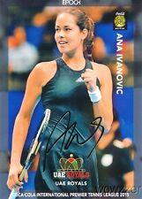 Ana Ivanovic 2015 Epoch IPTL Tennis Gold Foil Facsimile Signature #8/10 MINT