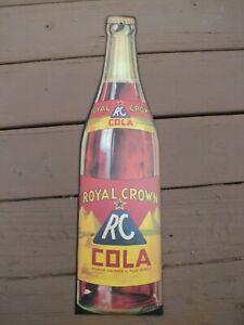 Royal Crown RC Cola Vintage Cardboard Soda Sign