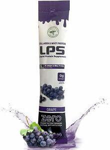 LPS Liquid Collagen & Whey Protein Supplement Grape Packets - 100 Ct ( 2 Pack )