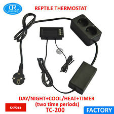 New Digital Day & Night Reptile Thermostat Timer 0-50C Aquarium Brooder TC-200
