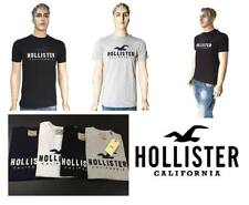 HOLLSTER MANS-CREW-NECK-SHORT-SLEEVE-t-shirt-S-M-L-XL