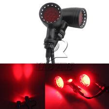Black Red 20 LED Bulb Motorcycle Stop Brake Running Turn Signal Tail Light Retro