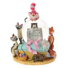 Rare Disney Store Marie Kiss me! Cat Music Box Snow Globe Dome Aristo Character