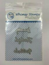 Whimsy Stamps Die - Gratitude Word Die Set