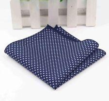 New Blue Cotton Pocket Square/ Hanky Excellent Reviews. Uk Seller