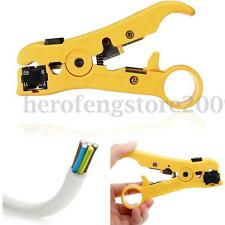 Rotary Coax Coaxial Cable Wire Cutter Stripping Tool UTP/STP RG59 RG11 Stripper