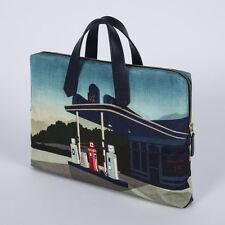Paul Smith VINTAGE BLUE GRAPHIC GARAGE PRINT PORTFOLIO BAG BNWT wallet