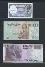 Egypte Lot de 3 billets différents  en état NEUF   Lot N° 1