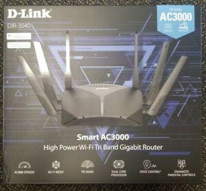 D Link Wifi Router AC3000 Mesh Smart Internet Network Alexa DIR3040US Black