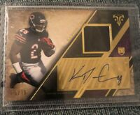 Ka'Deem Carey Tope RC Bears Rookie Auto Jersey Card /75