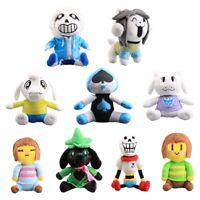 Undertale Plush Toy Sans Temmie Toriel Asriel Lancer Ralsei Stuffed Doll Figures