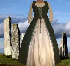 43a28dd5ab Medieval Renaissance SCA Garb Evergreen Snow Costume Bodice Full Skirt 2Pc  LXL