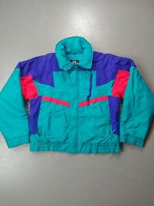VTG Sunice Jacket Ski Snow Retro Size medium mens Pink Green purple 90s neon