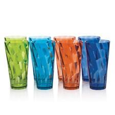 Plastic Acrylic Tumbler 20 Oz Capacity Assorted Color 8 Pieces Drinkware Set New