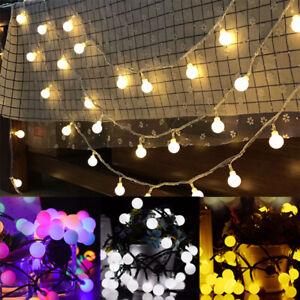 LED Solar String Lights outdoor garden yard Waterproof indoor Decor Ball Lamp