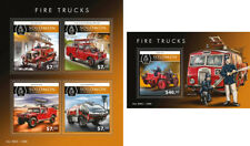 Fire Engines Transport Firefighters Feuerwehrleute Solomon Islands MNH stamp set