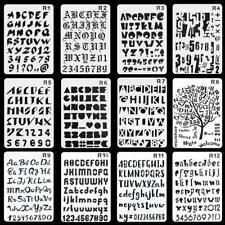 12 All Alphabet Letters and Number Plastic Stencils Templates for Painting Craft