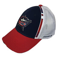 Columbus Blue Jackets NHL Adjustable Hat By Reebok Face Off Headwear Sz S / M