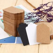 100pcs Blank Kraft Paper Tag Christmas Gift Wedding Favors Hanging Label Tags OZ