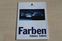 183382) Porsche 911 996 993 Carrera - Boxster - Farben & Polster - Prospekt 19