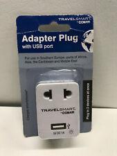 Travelsmart by Conair Ac Adapter Plug with Usb Port European Plug Nwg15