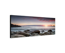 120x40cm Cot Valley Panorama Sonnenuntergang Cornwall  Nanven Leinwand Sinus Art