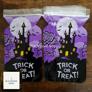 6 x HAUNTED HOUSE Treat Sweet LOOT Gift Bags  SCARY ZIPPER
