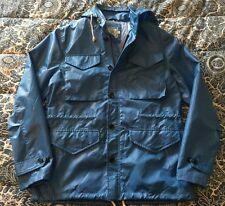 NWOT J. PRESS York Street Electric Blue Nylon M-65 Military-Style Jacket - Sz L