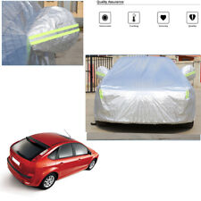Aluminum Waterproof Car Cover Sun Dust UV Protection For GOLF Focus A3 Hatchback