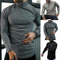 Herren Winter Warm Rollkragen Strickpullover Jumper Sweater Slim Fit Pullover DE