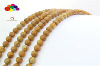 Diy 4/6/8/10/12mm Natural MUWEN Stone Round Beads fit bracelet necklace