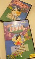 Dvd   lote marco y heidi (recuerdos de niñez)8 capitulos cuatro de cada