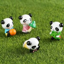 DIY Resin Figurines Miniature Cartoon Panda Decor Dollhouse Fairy Yard Garden