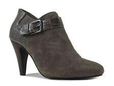 Alfani Women's Shirlee Booties Warm Grey Leather & Croco PU Size 5.5 M