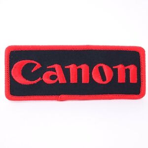"""Canon Logo 4"""" Embroidered Sew-On Patch for Jacket or Camera Bag #Q50"""