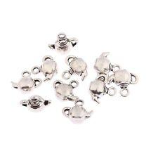 Teapot Kettle Beads Tibetan Silver Charms Pendant DIY Bracelet 12*8mm 10pcs