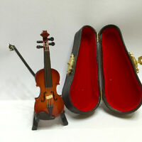 1:12 Scale Violin in Case Musical Instrument Dollhouse Music Room Accessory