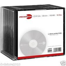 200 PRIMEON CD-R 80 Minuti 700MB 52X Slimcase silver cdr +1 CD Verbatim 2761100