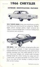 1966 Chrysler 300 New Yorker Newport Salesman's po2614-QLG8TP