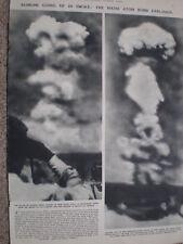 Photo article atomic bomb test Bikini Atoll 1946