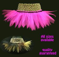 LEOPARD TUTUS DANCE/ GOTH/ CAVE GIRL FANCY DRESS PARTY