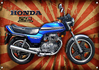 LARGE SIZE A3 HONDA 250N SUPER DREAM MOTORCYCLE METAL SIGN,CLASSIC,SUPERBIKE.