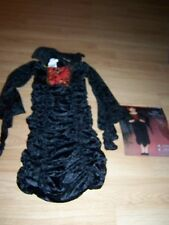 Girl Size Medium 8-10 Gothic Vampire Queen Countess Halloween Costume Dress New