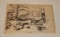 1887 magazine engraving ~ TROUT POOL, New Hampshire