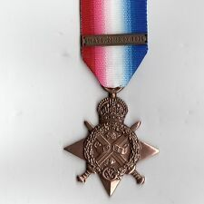 1914  Star 1st World War with Date bar GV Replacement medal