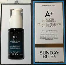 SUNDAY RILEY A+ High Dose Retinoid Serum ~1oz / 30 ml ~ FULL SIZE ~ NEW IN BOX!