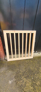Wooden Baby Stair Gate Pet Gate Includes Hinges & Latch Bespoke Unpainted