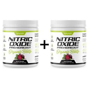 Organic Beet Root Powder Nitric Oxide beets Support Muscle & Heart Health 2-Pack
