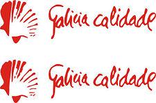 2 PEGATINAS VINILO - Galicia Calidade - Vinyl - AufKleber - Sticker - Moto