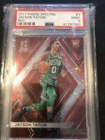 2017 Panini Spectra Jayson Tatum Rookie Card Red SSP /75  PSA 9 MT Hot  Celtics